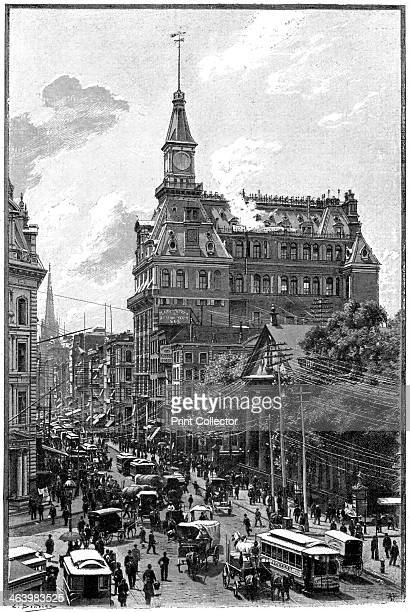 The Western Union Telegraph Company's buildings Broadway and Dey Street New York 1892