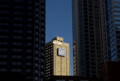 The Westin Hotel is viewed between two highrise condominiums on October 17 2011 in Chicago Illinois According to reports with a population of 27...