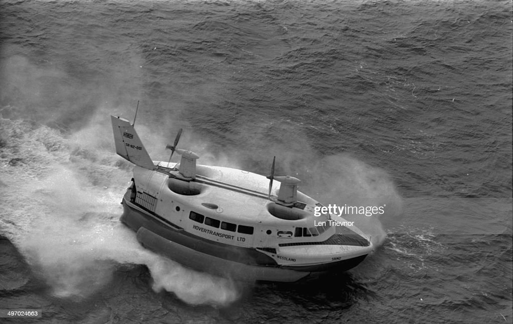The Westland/SaundersRoe SRN2 hovercraft on the Solent August 31st 1964