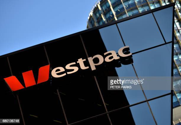 The Westpac sign is seen at their banking headquarters in Sydney on May 8 2017 Australian banking heavyweight Westpac posted a six percent rise in...