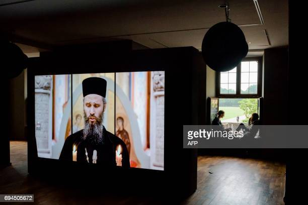 The Westpavillon hosts the work 'Byzantion' by German artist Romuald Karmakar at the Documenta 14 art exhibition in Kassel central Germany on June 9...