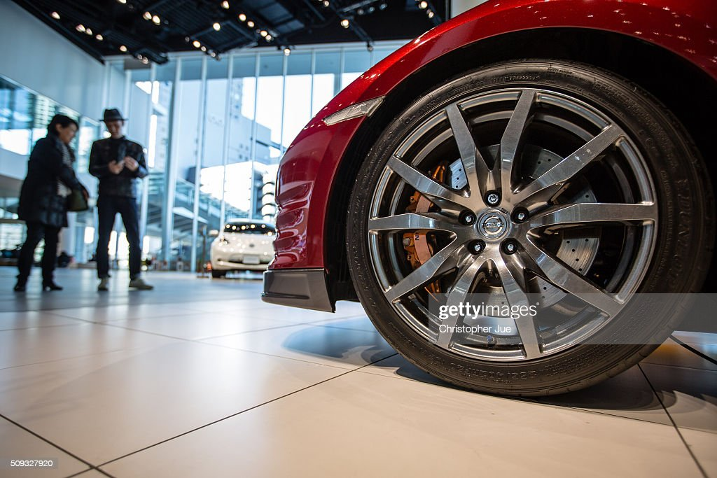 The wheel of a Nissan R35 GT-R vehicle is seen on display at the company's showroom on February 10, 2016 in Tokyo, Japan. Nissan Motor Co., Ltd., announced the financial results for the third quarter of fiscal year 2015 ending March 31, 2016. The net revenues resulted in 8.9430 trillion yen, the operating profit, 587.5 billion yen, and the net income 452.8 billion yen, For the April-December 2015 period, Nissan sold a total of 3,891,000 vehicles globally.