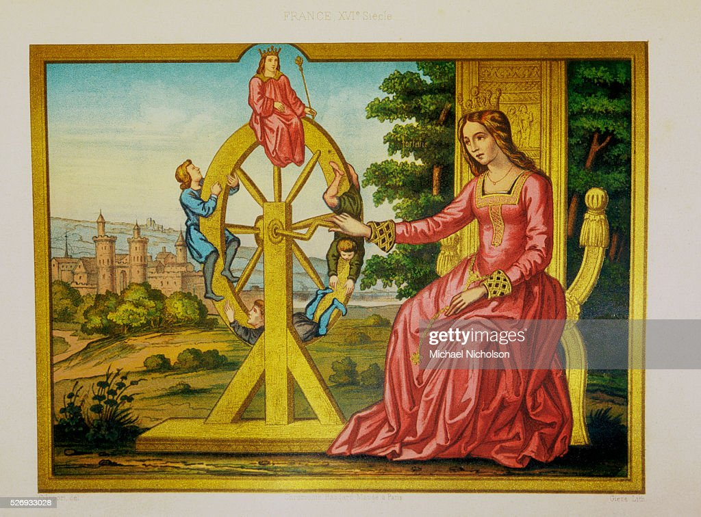 The Wheel of Fortune Color Print