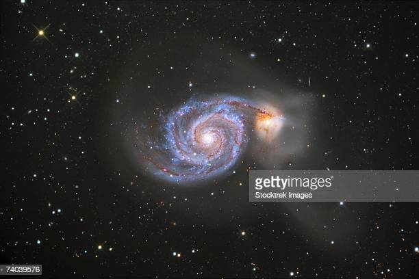 The Whirlpool Galaxy, also known as Messier 51 or NGC 5194, is a spiral galaxy located in the constellation Canes Venatici.