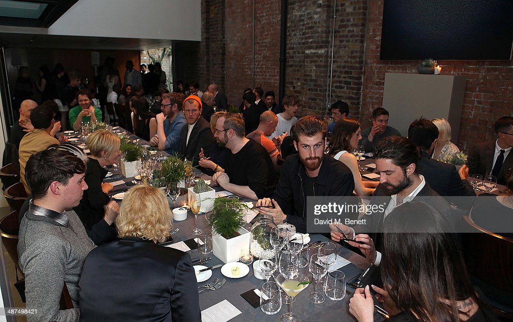 The Whistles menswear launch dinner and fashion show on April 30 2014 in London England