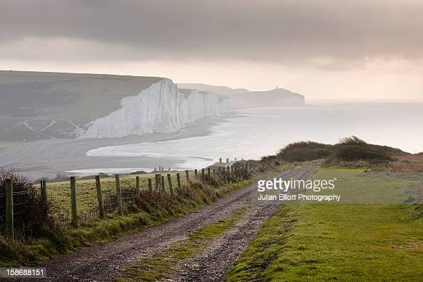 The white cliffs of the Seven Sisters.