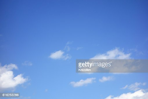 the white clouds floating on a background of blue sky : Stock Photo