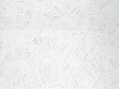 Background Pattern, White Hexagon Marble Tile Background or Texture with Copy Space for Text Decorated.