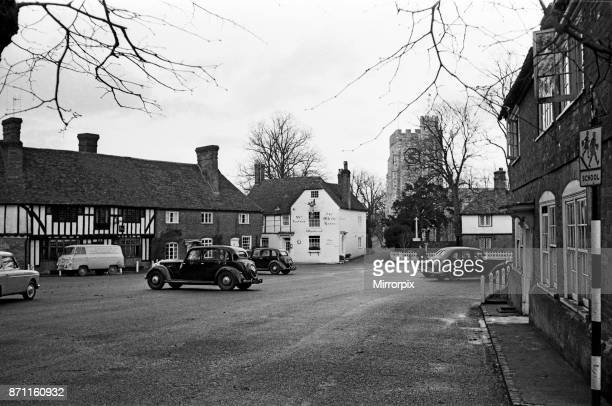 The White Horse pub in Chilham Kent 12th December 1961