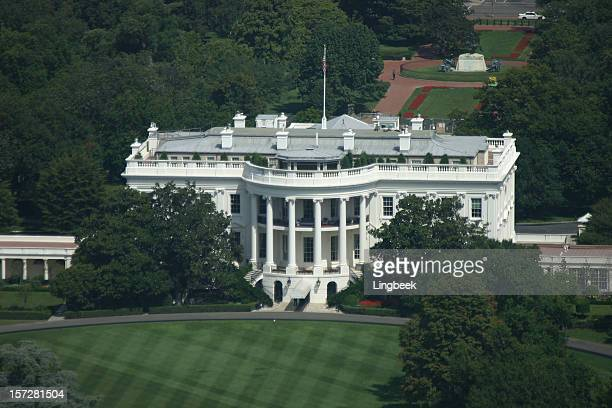 The White House in Washington D.C. aerial view