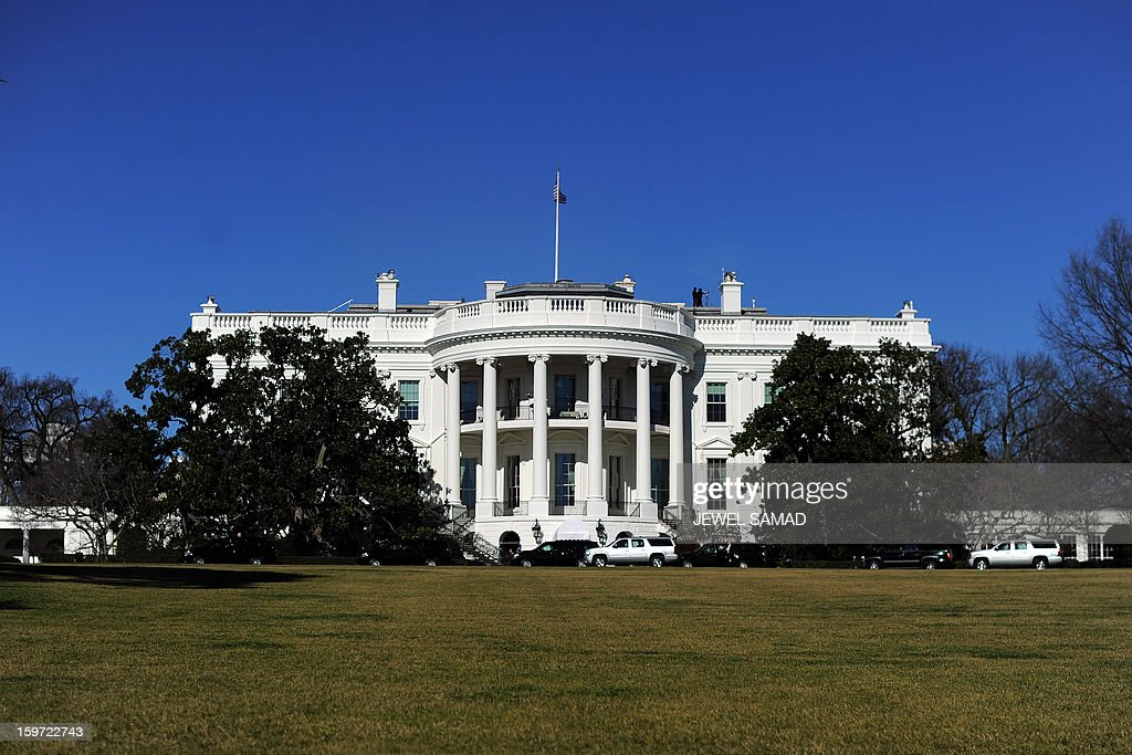 The White House is pictured on January 19, 2013 in Washington DC. Americans kicked off Barack Obama's inauguration weekend Saturday with a day of service, with the president and his family volunteering their efforts in Washington. AFP PHOTO/Jewel Samad