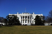 The White House is pictured on January 19 2013 in Washington DC Americans kicked off Barack Obama's inauguration weekend Saturday with a day of...
