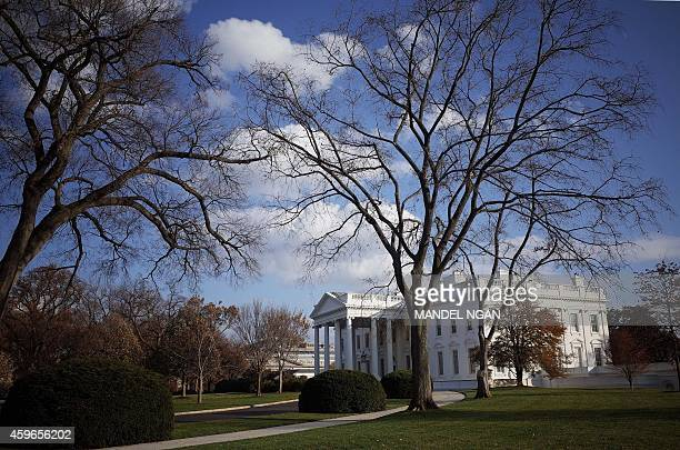 The White House is seen in this November 27 2014 photo on Thanksgiving Day in Washington DC AFP PHOTO/Mandel NGAN