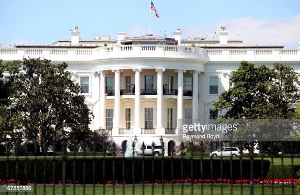 The White House south facade in Washington DC on APRIL 20