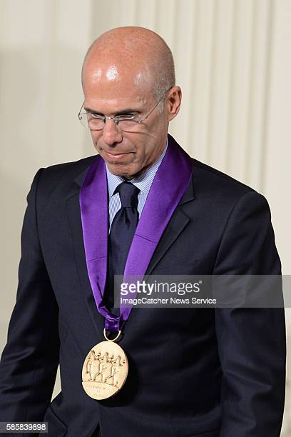 7/28/14 The White House Washington DC President Barack Obama awards the National Medal of Arts Award to Jeffrey Katzenberg Director and CEO of...