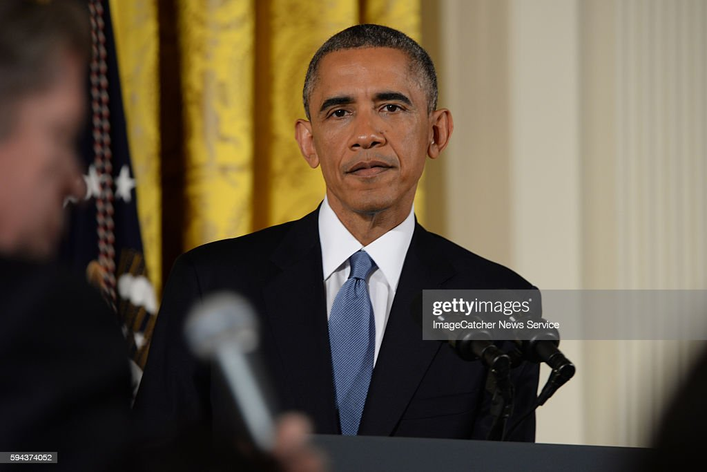 11/5/14 The White House Washington DC President Barack Obama holds a press conference in response to the election yesterday and the Republican...