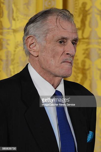 The White House Washington DC President Barack Obama presents the 2012 National Arts and Humanities Award to Frank Deford for transforming how we...