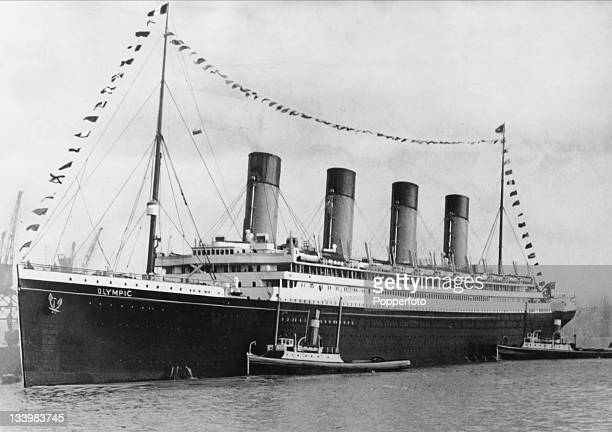 The White Star ocean liner 'RMS Olympic' arrives back at Southampton after a Bank Holiday cruise 2nd August 1932