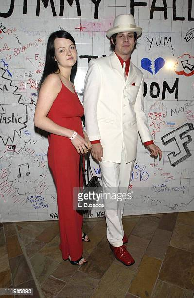 The White Stripes during DreamWorks Records Party in Honor of MTV VMA Host Jimmy Fallon at Tribeca Grand Hotel in New York City New York United States