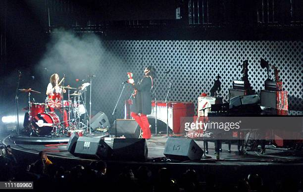The White Stripes during KROQ Almost Acoustic Christmas 2005 Day 2 Show at Gibson Ampitheatre in Universal City California United States