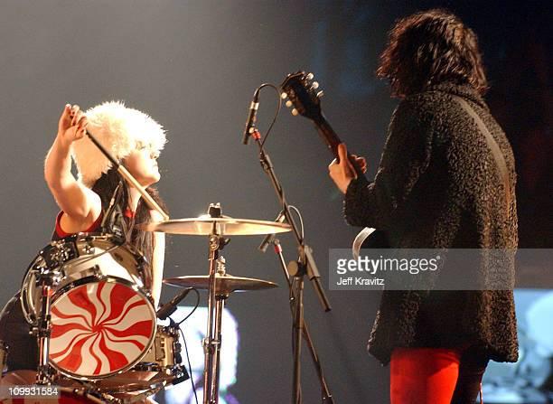 The White Stripes during MTV Europe Music Awards 2003 Show at Ocean Terminal Arena in Edinburgh Scotland