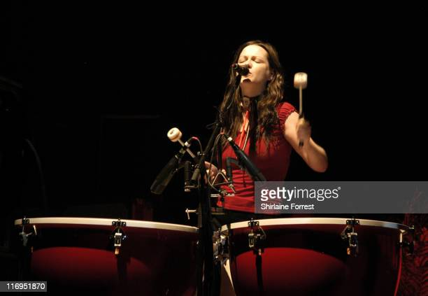 The White Stripes during The White Stripes Live In Concert November 17 2005 at The Apollo in Manchester Great Britain