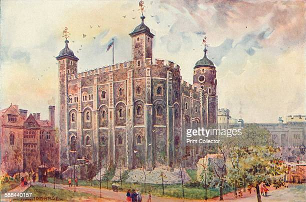 The White Tower Tower of London 1906 From Cassell's History of England Vol VI