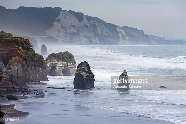 The Whitecliffs rock formation, Tongaporutu, Taranaki Region, New Zealand
