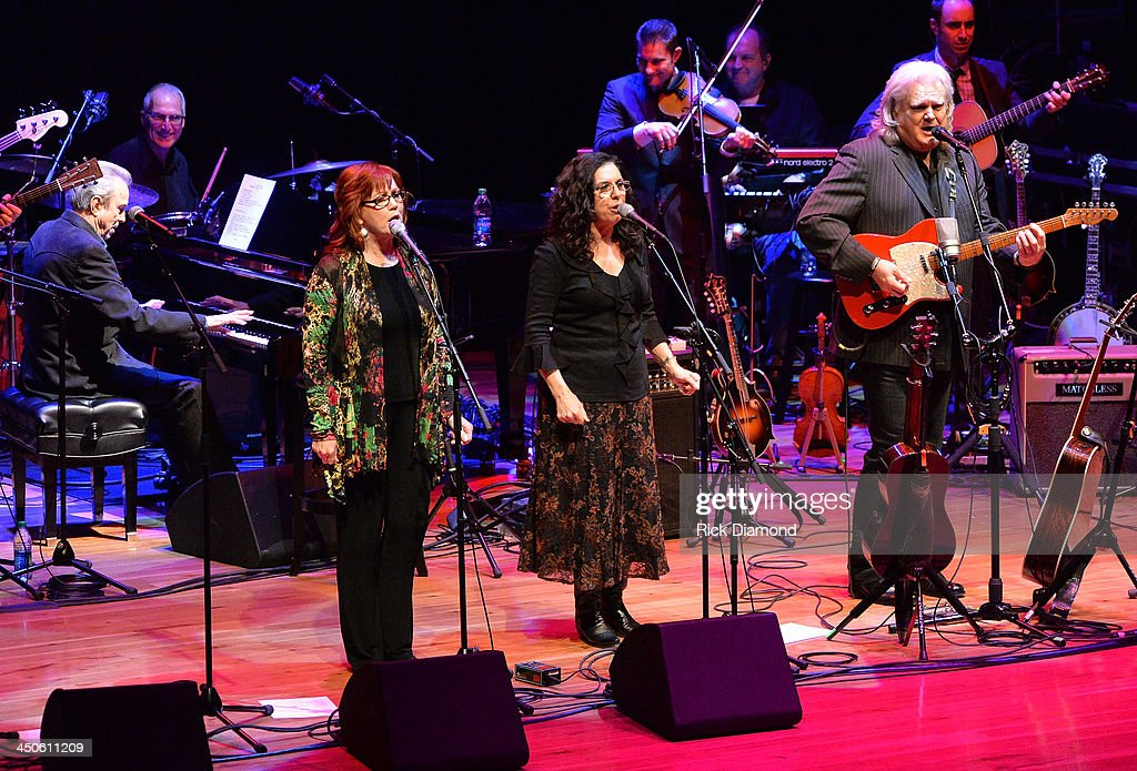 The Whites, Buck White, Cheryl White and Sharon White with Ricky Skaggs perform at the CMA Theater on November 18, 2013 in Nashville, Tennessee. Skaggs was recently announced as the Country Music Hall of Fame and Museum's 2013 Artist-in-Residence.