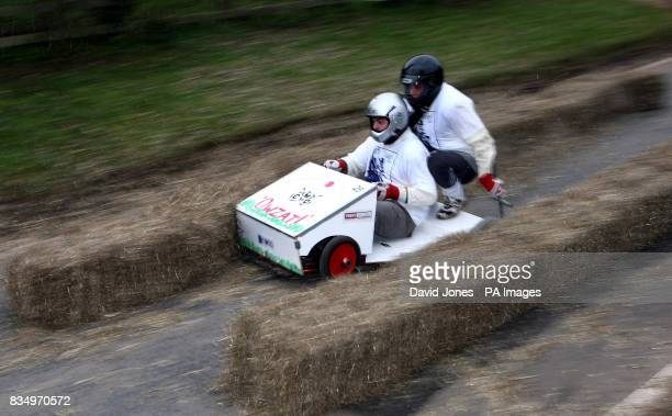 The 'Who ever next' team crash into the chicane at the Hoar Cross Downhill soapbox competition The competition organised by the 'Mad Club' in aid of...