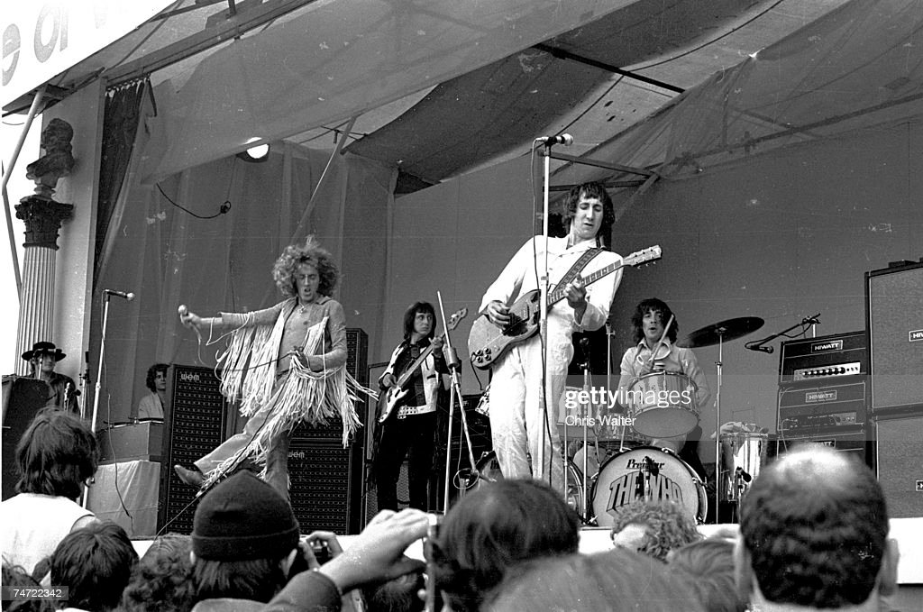 The Who in the 60's Isle Of Wight Festival during The Who File Photos at the Various in Isle Of Wight United Kingdom