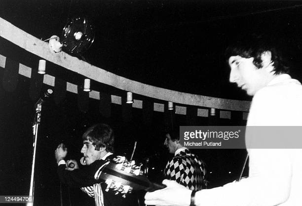 The Who perform on stage at the Marquee Club London LR Roger Daltrey John Entwistle Pete Townshend