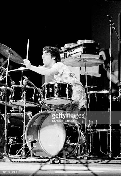 The Who perform on stage London Keith Moon