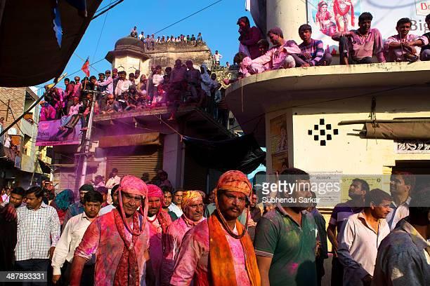 The whole town of Barsana comes to life on Holi Barsana a village near Mathura in Uttar Pradesh observes Holi with tremendous enthusiasm every year...