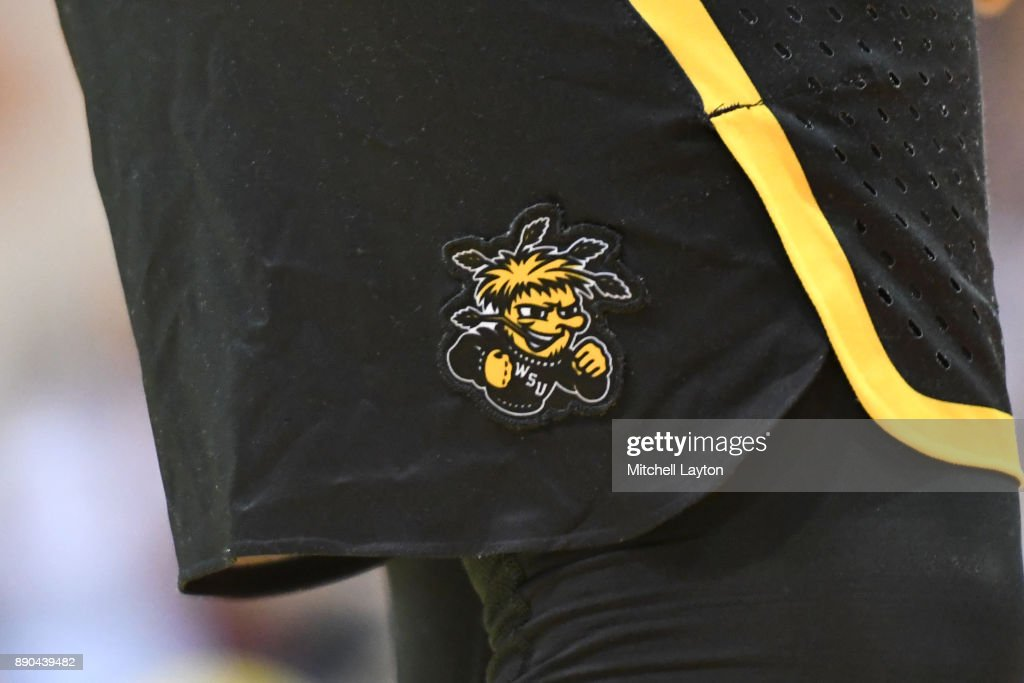 The Wichita State Shockers logo on a pair of shorts during a the championship of the Maui Invitational college basketball game against the Notre Dame Fighting Irish at the Lahaina Civic Center on November 22, 2017 in Lahaina, Hawaii. The Fighting Irish won 67-66.
