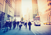 The wide sidewalks on 5th Avenue in New York City