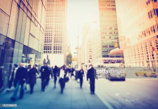 L'ampia marciapiedi sulla 5th Avenue, a New York City