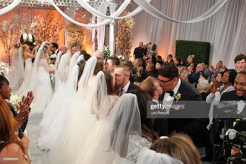 AMERICA - The Wide World of Weddings continues with a group wedding featuring 16 couples live in Times Square and a live performance by Boys II Men on 'Good Morning America,' 4/29/16, airing on the ABC Television Network. BRIDES, SAM