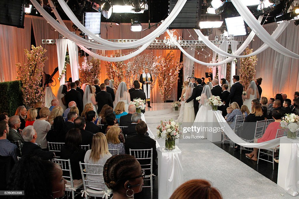 AMERICA - The Wide World of Weddings continues with a group wedding featuring 16 couples live in Times Square and a live performance by Boys II Men on 'Good Morning America,' 4/29/16, airing on the ABC Television Network. SAM