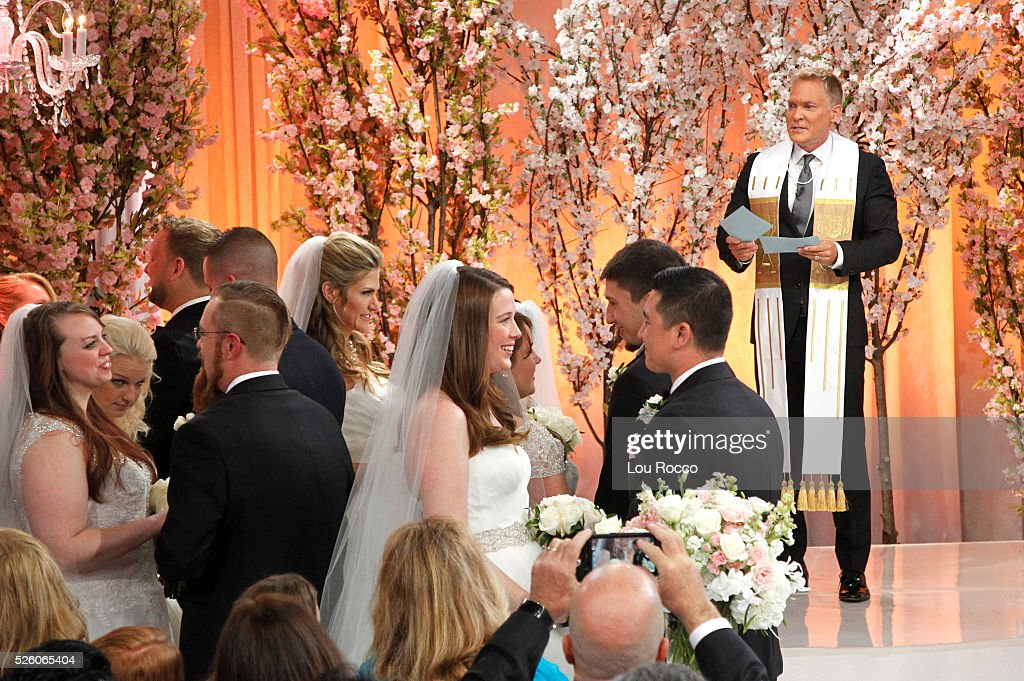 AMERICA - The Wide World of Weddings continues with a group wedding featuring 16 couples live in Times Square and a live performance by Boys II Men on 'Good Morning America,' 4/29/16, airing on the ABC Television Network. BRIDES