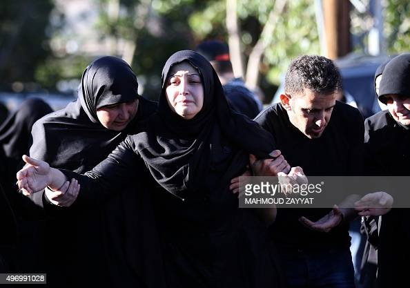 The wife of Adel Termos who was killed in a twin bombing attack that rocked a busy shopping street in the area of Burj alBarajneh in Beirut's...