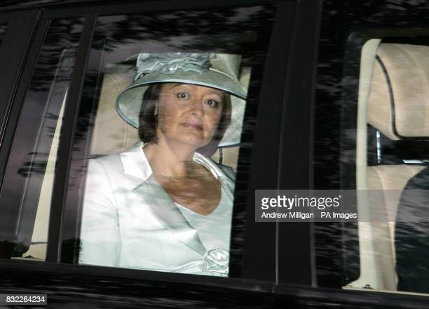 The wife of British Prime Minister Cherie Blair arriving at Crathie Church Crathie Kirk near to Queen Elizabeth II's Balmoral estate on Royal Deeside...
