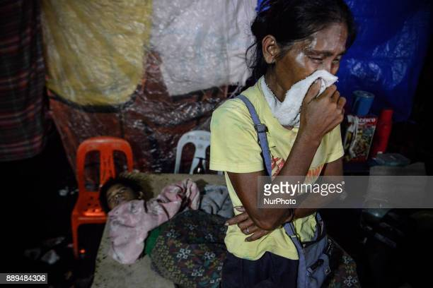 The wife of Junior Amadeo who was killed by unidentified assailants weeps during his funeral wake in Navotas Metro Manila Philippines August 8 2017...