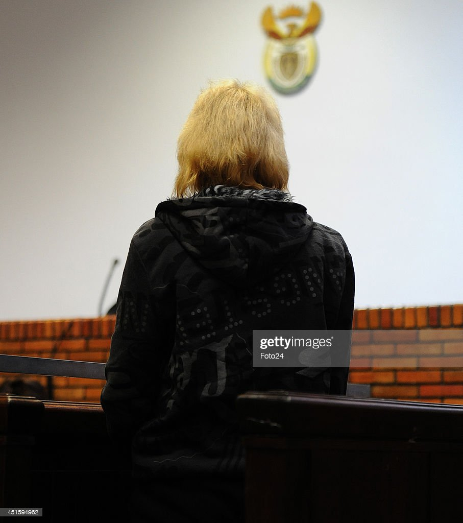 The wife of the Springs Monster appears at the Springs Magistrate's court on July 1, 2014 in Springs, South Africa. The mother of five is facing similar charges that were laid against her husband who is accused of holding his family captive and abusing them for years. She faces charges of child abuse, attempted murder, assault with intent to do grievous bodily harm, and defeating the ends of justice. Her bail application continues in court today.