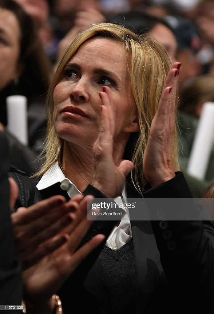 The wife of Wayne Gretzky, Janet Jones attends Game Three of the 2012 Stanley Cup Final between the Los Angeles Kings and the New Jersey Devils at the Staples Center on June 4, 2012 in Los Angeles, California.