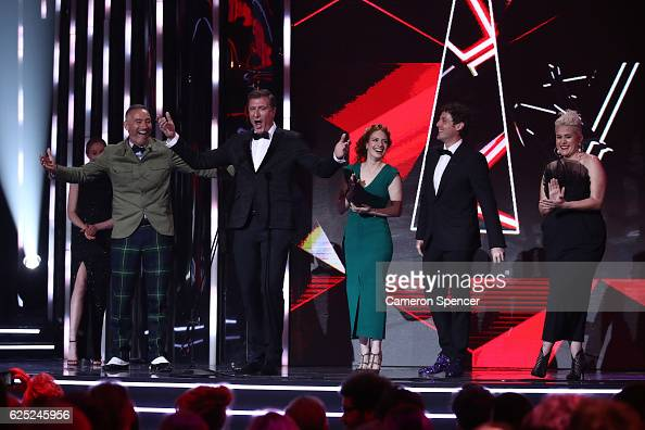 The Wiggles accept the ARIA for Best Children's Album during the 30th Annual ARIA Awards 2016 at The Star on November 23 2016 in Sydney Australia