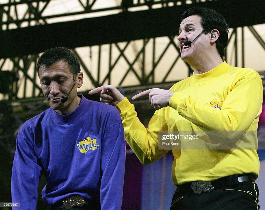 The wiggles children s entertainers jeff fatt and sam moran perform on