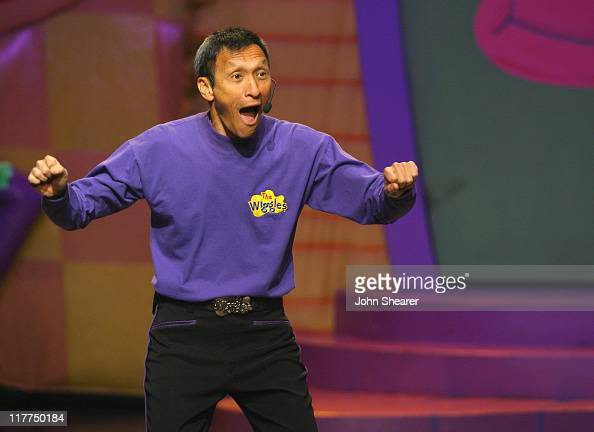 The Wiggles during G'Day USA Aussie Family Concert at LA Music Center Ahmanson Theater in Los Angeles California United States