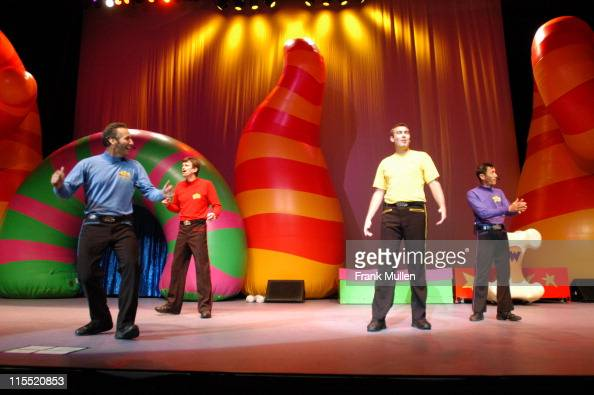 The Wiggles during The Wiggles in Concert October 25 2004 at Arena at Gwinnett Center in Duluth Georgia United States