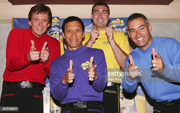 The Wiggles pose for a photograph before performing at the Sydney Entertainment Centre on March 10 2005 in Sydney Australia